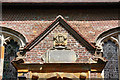 TQ5337 : St John the Evangelist, Groombridge - Porch detail by John Salmon