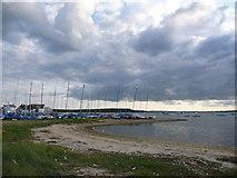 SZ1891 : Mudeford: eastern edge of the harbour by Chris Downer