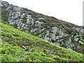 NN9734 : Folded Rocks by Anne Burgess