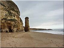 NZ3965 : Lot's Wife, Marsden Sands by Alexander P Kapp