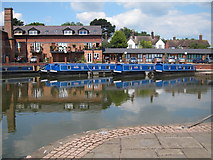 SP7287 : Narrowboats at Market Harborough Union Wharf by Oast House Archive