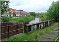 SJ9050 : Canal and disused railway at Milton, Stoke-on-Trent by Roger  Kidd