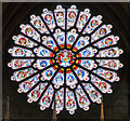 NZ2742 : The rose window at Durham Cathedral by Ian Greig