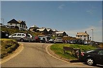 SW9980 : Port Isaac : Car Park by Lewis Clarke