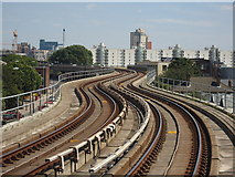 TQ4080 : DLR viewed from West Silvertown station by Stacey Harris