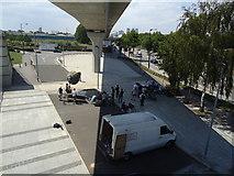 TQ4180 : Film crew near Pontoon Dock DLR station by Stacey Harris