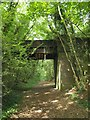 SX5450 : Bridge over former railway by Mudbank Lake by Derek Harper