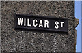 J3774 : Wilgar Street sign, Belfast by Albert Bridge