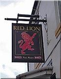 SO9297 : Red Lion (2) - sign, 252 Bilston Road, Wolverhampton by P L Chadwick