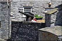 SW9980 : Port Isaac : Cannon overlooking the Harbour by Lewis Clarke