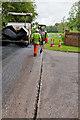 SU5325 : Resurfacing works on Longwood Road by Peter Facey