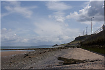 SH8678 : The beach at Old Colwyn by Ian Greig
