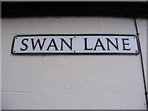 TM3877 : Swan Lane sign by Adrian Cable