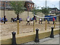 NZ2563 : Beach volleyball in Newcastle by Alex McGregor