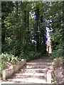 TM1640 : Footpath to the barn at Wherstead Hall Farm by Adrian Cable