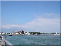 SZ1891 : Mudeford Quay and the harbour entrance by John Goldsmith