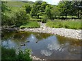 SD9672 : A channel of the River Wharfe, Kettlewell by Humphrey Bolton