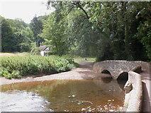SS9843 : Gallox Bridge, Dunster by Roger Cornfoot
