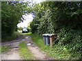 TM3770 : Entrance to Hill Farm & footpath to Sibton Green (C212) by Adrian Cable