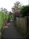 SE2534 : Footpath linking Stanningley Road & Cockshott Drive by Betty Longbottom