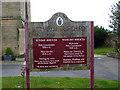 NZ0516 : St Mary's Parish Church, Barnard Castle, Sign by Alexander P Kapp