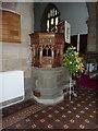 NZ0516 : St Mary's Parish Church, Barnard Castle. Pulpit by Alexander P Kapp