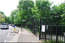 TQ2572 : Entrance to Wimbledon Park, Home Park Rd by N Chadwick
