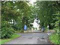 NZ3243 : Entrance to Hallgarth Manor Hotel by peter robinson