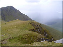 NN3543 : Ascending Meall Buidhe  by Michael Graham