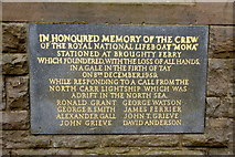 NO4630 : Memorial on the old Lifeboat Station, Broughty Ferry by Mike Pennington