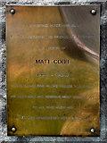 SD7513 : Matt Cobb Memorial Plaque by David Dixon