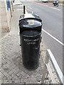 TQ3978 : Dual litter bin by Stephen Craven