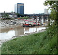 ST3188 : River Usk, Newport by Jaggery