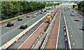J3477 : Safety barrier replacement, M2, Belfast (1) by Albert Bridge