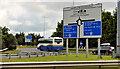 J3477 : Fortwilliam roundabout sign, Belfast (3) by Albert Bridge