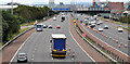 J3477 : Safety barrier replacement, M2, Belfast (4) by Albert Bridge