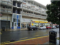 TQ2273 : Shops and flats, Danebury Avenue, Roehampton by Stacey Harris