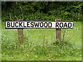 TM4363 : Buckleswood Road sign by Adrian Cable
