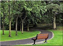 J2664 : Park seat, Lisburn by Albert Bridge