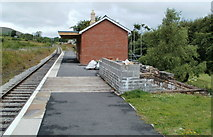 SO2508 : Along the platform at Blaenavon (High Level) Station by Jaggery