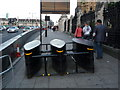 TQ3079 : London: unidentified contraption by Westminster Bridge by Chris Downer