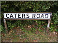 TM2653 : Caters Road sign by Adrian Cable