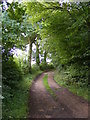 TM4062 : Footpath to Church Road Friston and entrance to Friston Moor Barn and High House Farm by Adrian Cable
