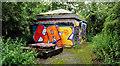 J3370 : Graffiti, Lagan Meadows, Belfast by Albert Bridge