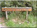 TM4563 : Sandlings Walk Bridleway & Sizewell Belt Trail, Kenton Hills Walks sign by Adrian Cable