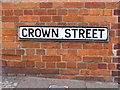 TM4462 : Crown Street sign by Adrian Cable