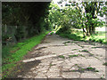 TM4078 : Cracked concrete on bridleway to Upper Holton by Evelyn Simak