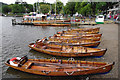 NY3703 : Rowing boats at Waterhead by Ian Taylor
