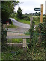 TM4160 : Stile of Sandlings Walk Footpath by Adrian Cable