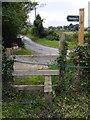 TM4160 : Stile of Sandlings Walk Footpath by Adrian Cable